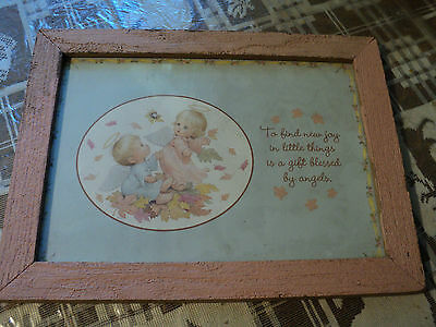 "Baby Nursery Picture ""to Find New Joy In Little Things Is A Gift Blessed By Angels"""