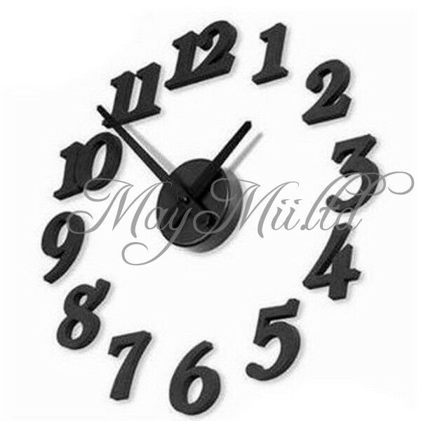 DIY Adhesive Decal Modern Wall Digit Number Room Interior Decoration Clock