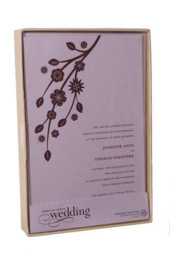 100 Wedding Bridal Shower Modern Brown Floral Invitations Printable DIY 8 X5 NEW
