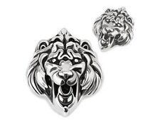 Pendentif Biker en acier 316L tete de lion collier lion 's head pendant