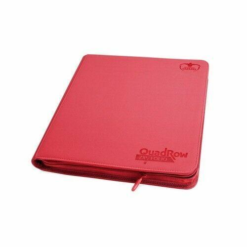ULTIMATE GUARD RED 4 POCKET XENOSKIN ZIPFOLIO Card Storage BINDER Page Album