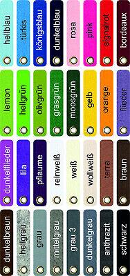 1 Schlüsselanhänger Schlüsselband Filz 4mm 20mm x 100mm mit Ösen 32 Farben
