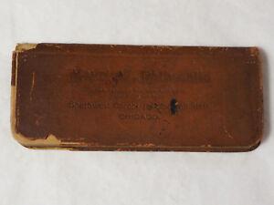 Maurice Rothschild leather Advertising Memorandum Booklet leather 1910 Chicago