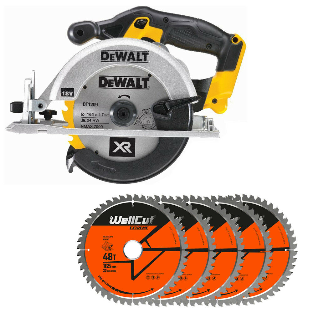 DeWalt DCS391N 18V XR li-ion Circular Saw 165mm With 5 Extra 48 Teeth Wood Blade