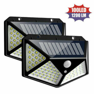 100-LED-Solar-Power-Luce-impermeabile-per-esterni-con-sensore-di-movimento