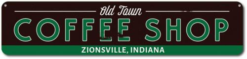 Personalized Java Store Location City ENSA1001593 Old Town Coffee Shop Sign