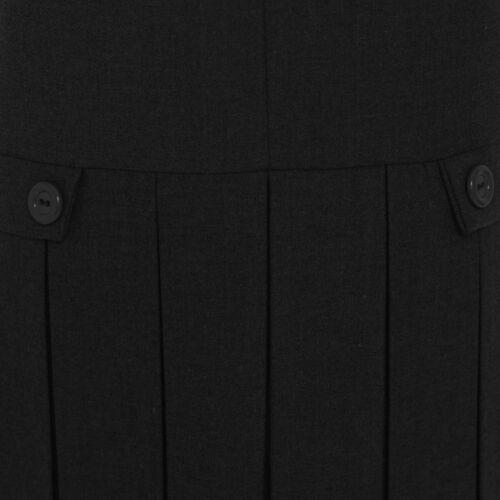 Kids Girls School Uniform a pieghe con zip Pinny Grembiulino Abito con chiusura a zip