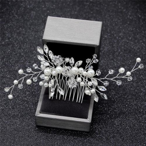 Cristal perles femmes cheveux Bijoux mariage cheveux peigne mariée  ZH
