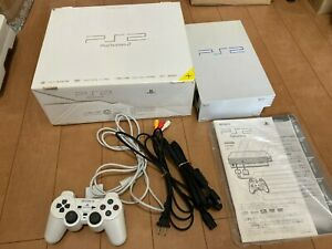 Sony-PlayStation-2-Console-SCPH-50000PW-Perl-White-Color-with-BOX-and-Manual