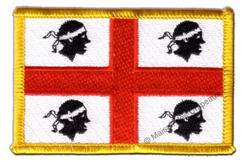 Écusson brodé drapeau Italie Sardaigne sarde 5x8cm Thermocollant