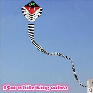 NEW-15m-Power-Cobra-Snake-Kite-Outdoor-Fun-Sports-easy-to-fly-Children-Toys