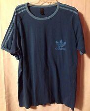 adidas Blue Trefoil Firebird Ringer T-Shirt • XL • FREE SHIPPING