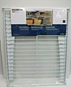 Closet-Maid-Shelf-Track-White-Drawer-Hardware-NEW