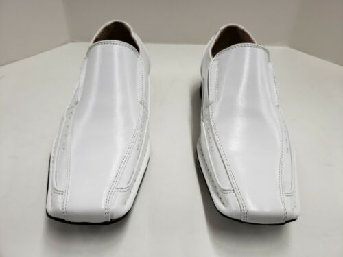 Kids Stacy Adams Templin Bicycle Toe Slip On Loafer Dress Shoes Black or White
