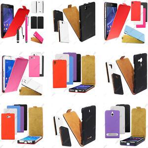 Housse-Etui-Coque-Rabatable-Flip-PU-Cuir-Sony-Xperia-C-E-M-Sp-Z-3-2-1-Compact
