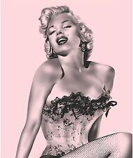 Marilyn Monroe Pink Fishnet Fleece Blanket Throw NEW BEST PRICE