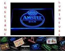 RARE PANNEAU PUB BIERE BEER AMSTEL LED ENSEIGNE BAR CAFE LUMINEUSE NEON LAMPE