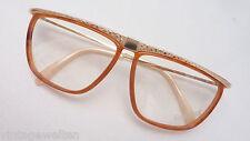 Rodenstock Brille 70er Vintage Damen XXL Kunststoff Metalldekor NEU Gr.M