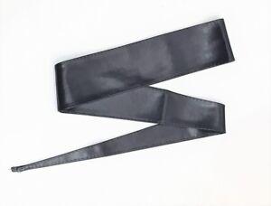 Cintura-FUSCIACCA-cinta-Donna-FASCIA-LARGA-ecopelle-NERO-abito-jeans-moda