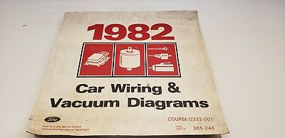 1982 Ford car all electrical wiring vacuum diagram Mustang ...
