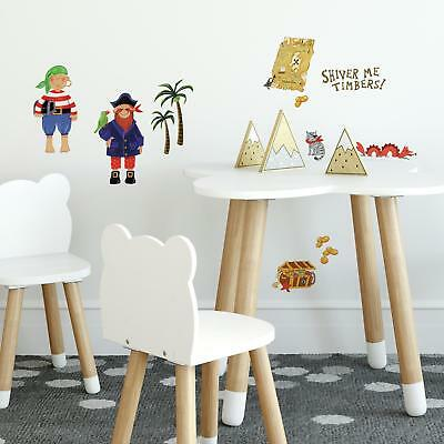 TREASURE HUNT WALL STICKERS 45 New Pirate Bedroom Decals Kids Room Pirate Decor