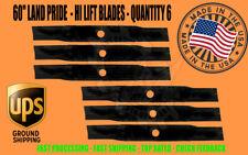 6 Blades For Land Pride 60 Finish Mower 890 171c Estate Mower Hi Lift 890 162c