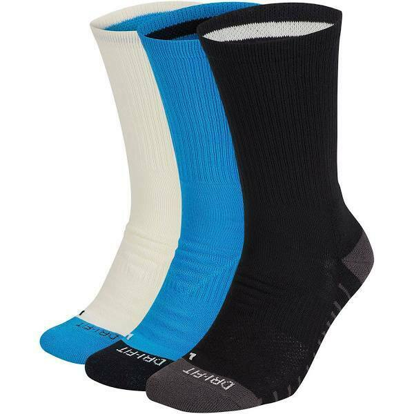 Nike 3 Pack Everyday Max Crew Socks Mens Size 12 - 15 Fit Sx7836 923  Cushioned