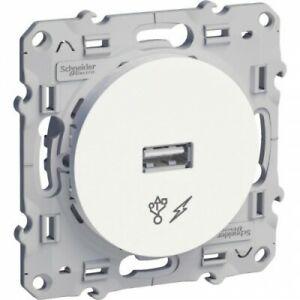 Prise chargeur USB - 1 x USB - Blanc - Odace SCHNEIDER