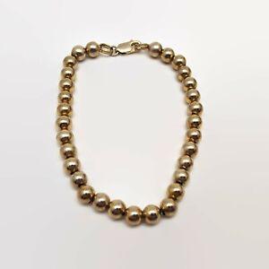 Gold-Over-Sterling-Silver-Bead-Bracelet