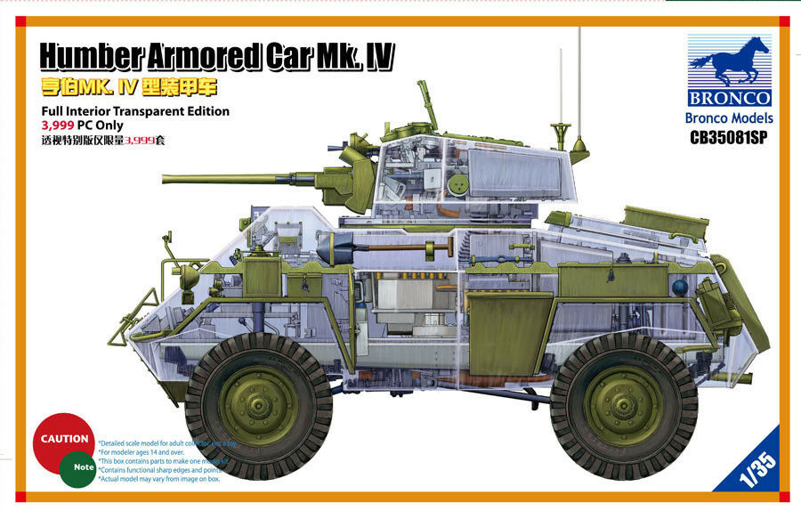 Bronco 1 35  CB35081SP Humber Armored Car Mk.IV (Clear Limited Edition)