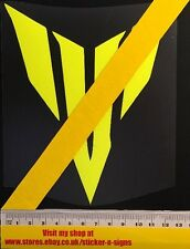 1x adhesivo con el logotipo en amarillo flúor MT-07 Grande 150mm de alto bicicletas adecuadas para Yamaha