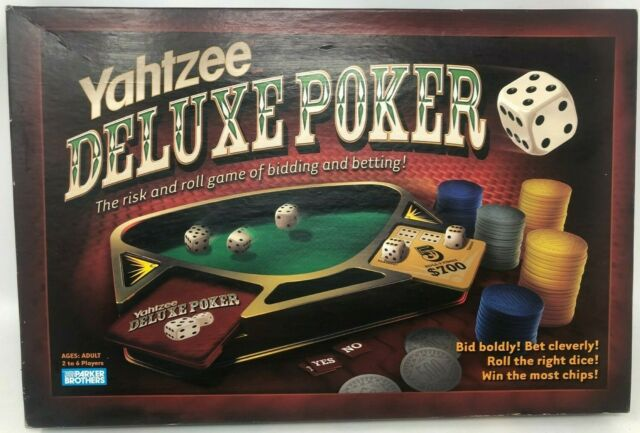 Yahtzee Deluxe Poker Parker Brothers Game 100 Complete For Sale Online Ebay