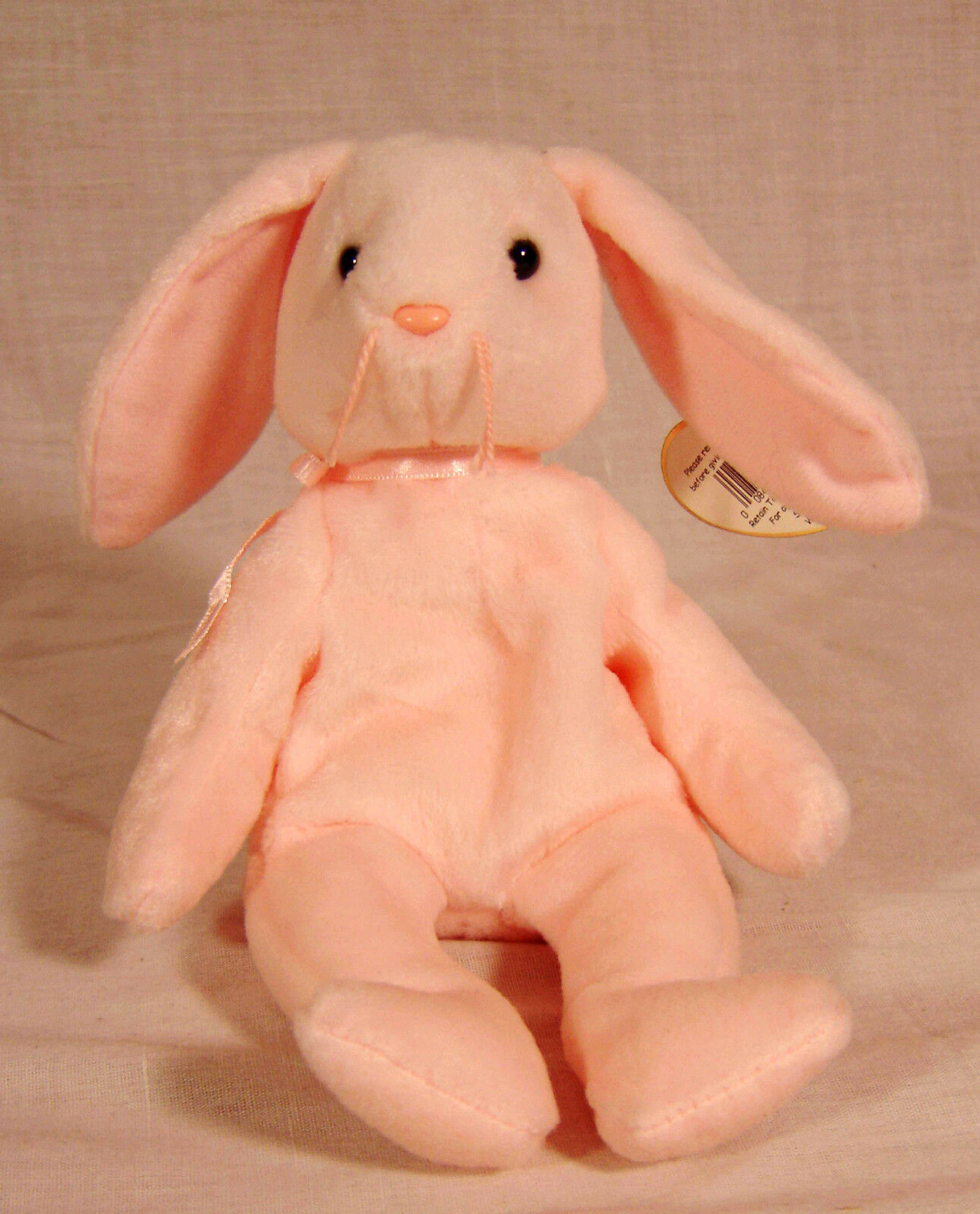 Ty Ty Ty Beanie Baby HOPPITY the Bunny with multiple errors  ORIGIINAL  PE Pellets 54651a