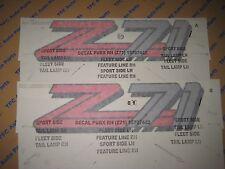 2 Chevy Silverado GMC Sierra Z71 Decal Sticker Badge Genuine OEM GM 1999-2000