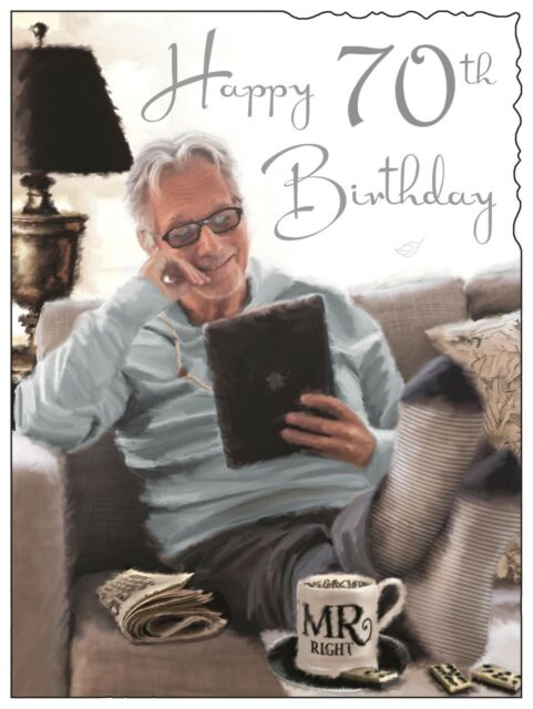 Happy 70th 70 Birthday Card For A Man Luxury Made In UK