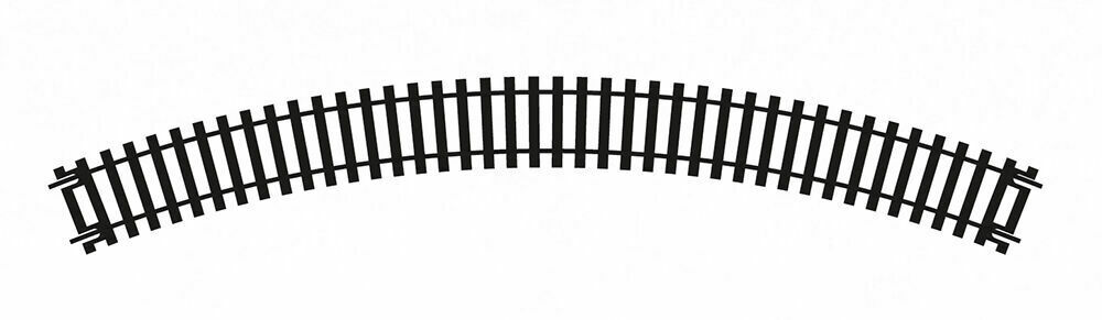 371mm RAD. SERIES 6 R605 HORNBY OO GAUGE 4 PIECES OF DOUBLE CURVED TRACK