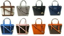 Michael Kors Jet Set Travel Leather XS Top Zip Convertible Tote Satchel Bag