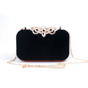 Diamond Rhinestone Evening Bag Bridal Party Clutch Purse Wedding Handbag