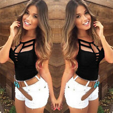 Sexy Women Summer Vest Top Sleeveless Blouse Casual Tank Tops T Shirt Beach Hot