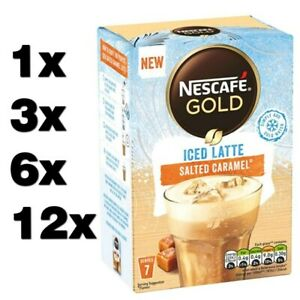 NESCAFE GOLD SALTED CARAMEL ICED LATTE (1 to 84 sachets) instant coffee cheap