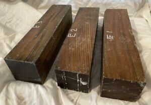 Exacta-Lote-3-Lignum-Vitae-Argentina-Verawood-3x3x12-Enhebrado-Torneado-Mazos