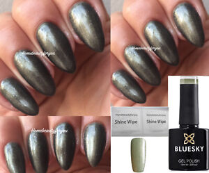 BLUESKY-GEL-POLISH-GREY-SHIMMER-SILVER-STEEL-GLAZE-80560-NAIL-UV-LED-SOAK-OFF