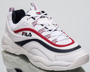 99ed372a5374 Fila Ray Low Top Men s Lifestyle Shoes White Navy Red 2018 Sneakers ...