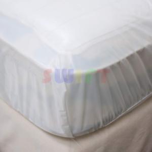 Queen-Mattress-Cover-Waterproof-Fitted-Vinyl-Bed-Bug-Dust-Mites-amp-Allergy-Relief