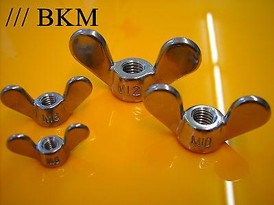 Flügelmuttern von M4 bis M10 DIN 315 deutsche Form BKM Edelstahl V2A