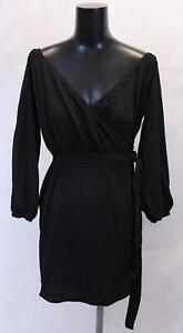 Boohoo-Women-039-s-Plus-Off-The-Shoulder-Wrap-Mini-Dress-BF5-Black-Size-US-14-NWT