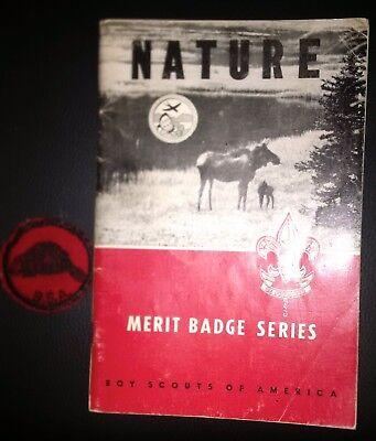 Vintage BOY SCOUTS Patch & Boy Scouts Merit Badge Manual