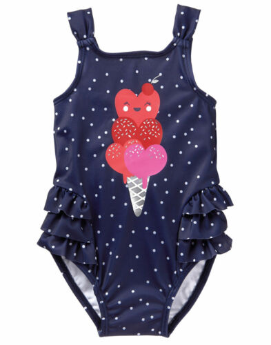 many sizes NWT Gymboree Toddler Girls ice cream 1 pc swimsuit UPF 50