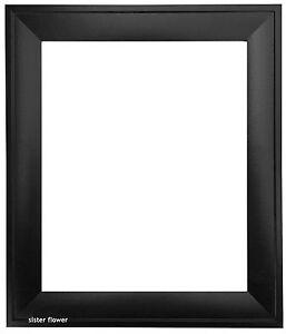 brand new black classic plain black photo frame poster picture 026