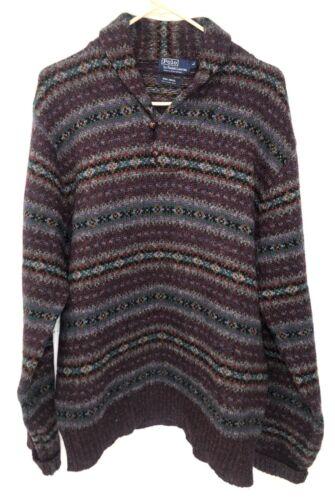 Vintage Polo Ralph Lauren Mens Large Sweater Fair
